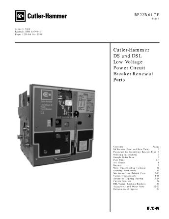 Renewal Parts RP.22B.01.TE