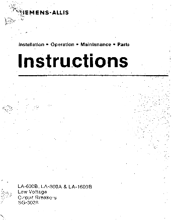 Instructions SG-3028