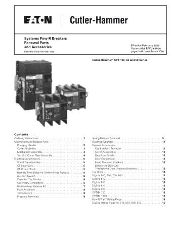 Renewal Parts RP01301013E