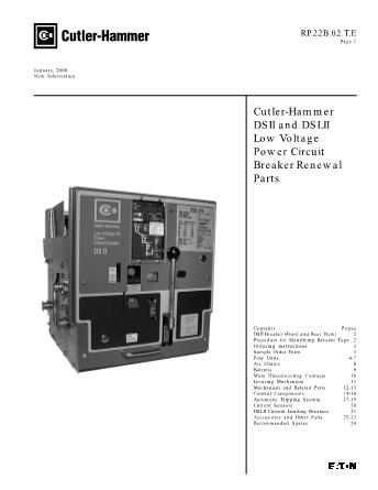 Renewal Parts RP22B02TE