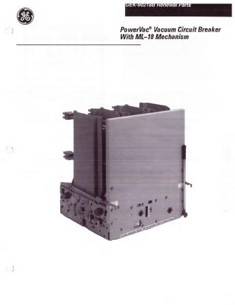 Renewal Parts GEK-9021B