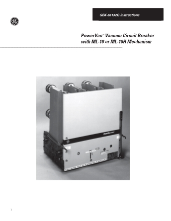 Instructions GEK-86132G
