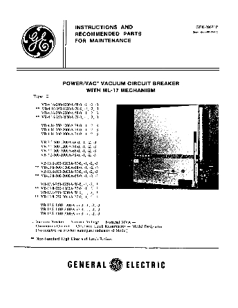 Instructions GEK-39671F