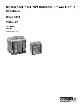 Renewal Parts 0613DB1607