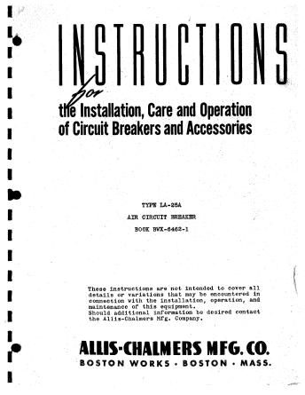 Instrution Manual