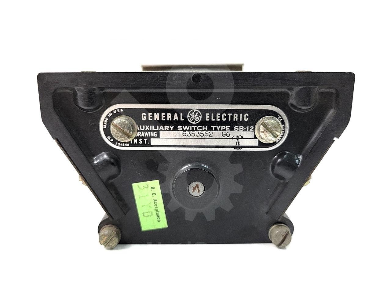 General Electric GE SB-12 AUXILIARY SWITCH 6NO/6NC