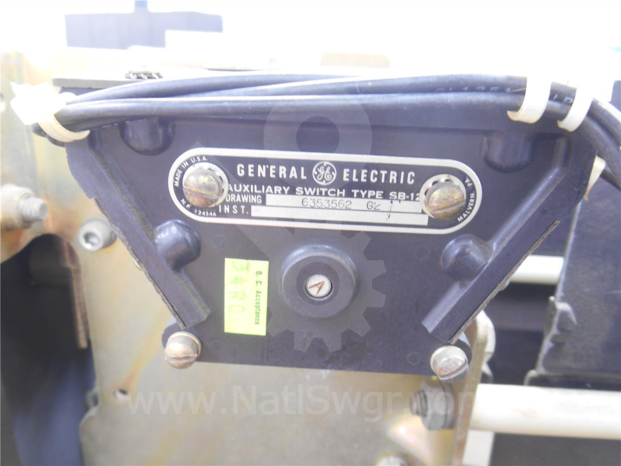 General Electric GE SB-12 AUXILIARY SWITCH 2NO/2NC