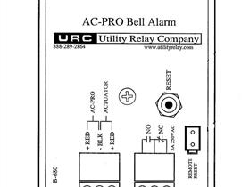 URC BELL ALARM KIT 1NO/1NC NEW