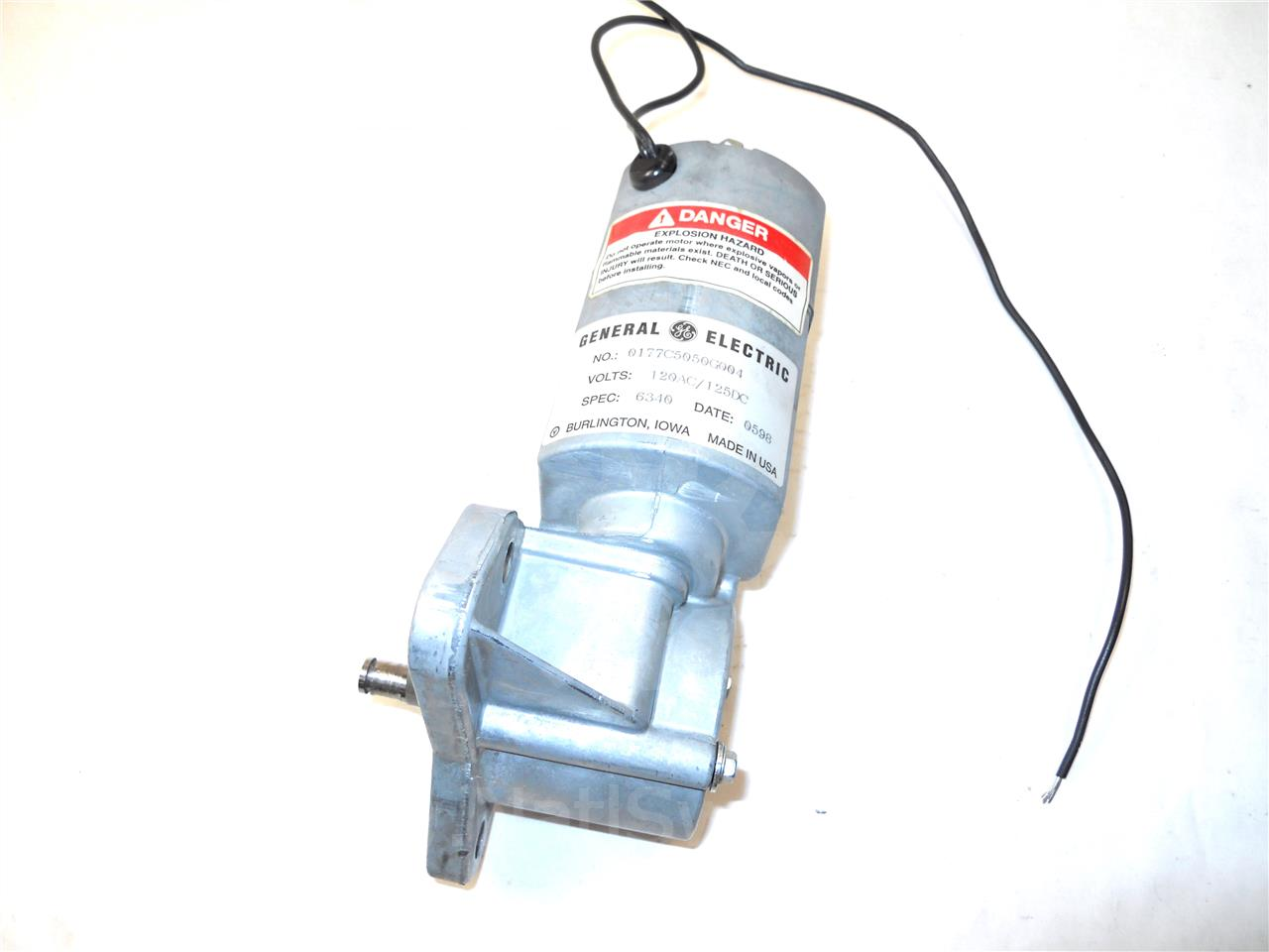 0177c5050g004 ge / general electric 120vac / 125vdc charge motor for akr /  vb1 with ml-18 / wave pro