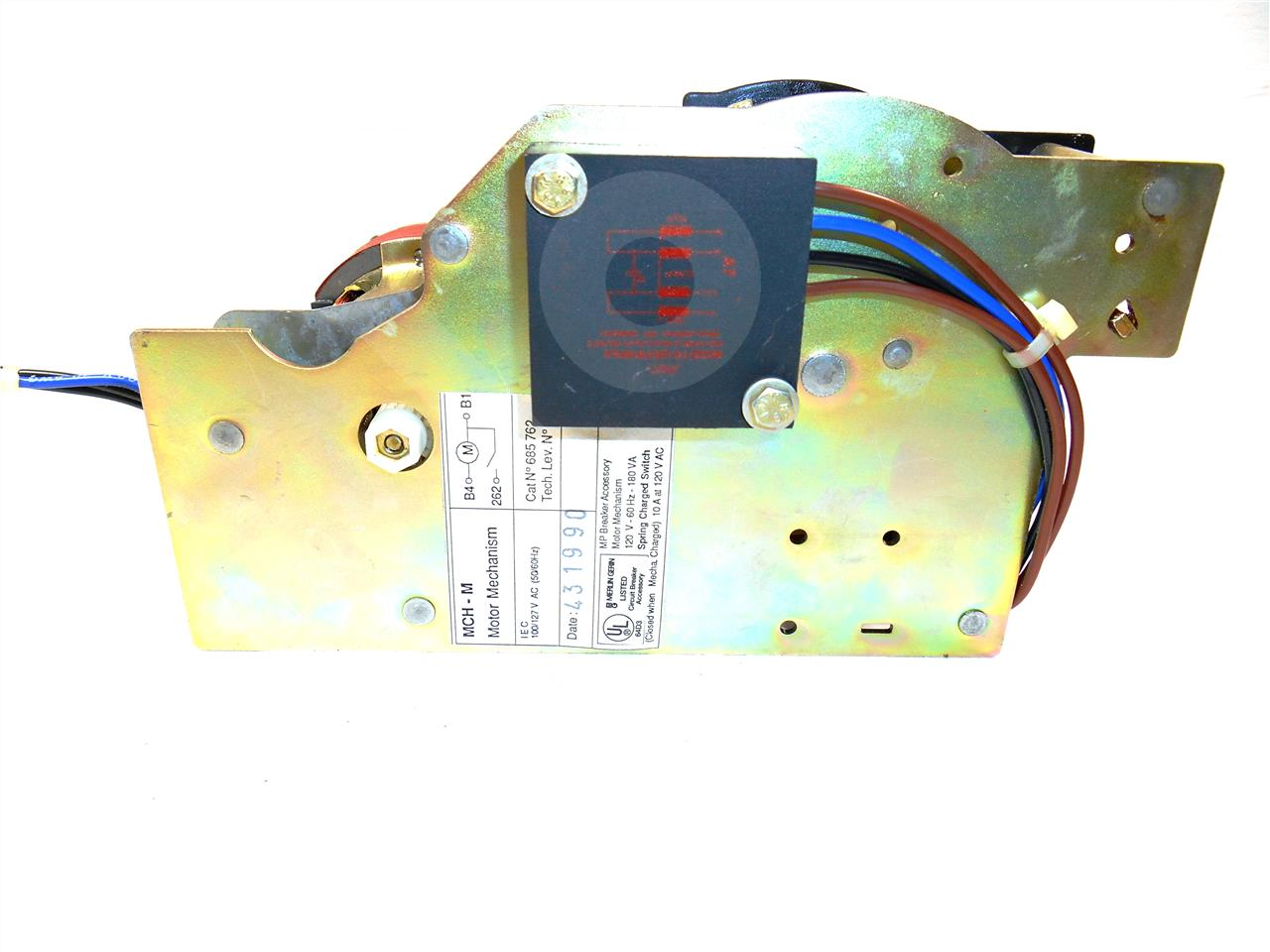 MCH-685762 Square D 120VAC SPRING CHARGE MOTOR ASSEMBLY FOR MASTERPACT, MC / MP FRAMES