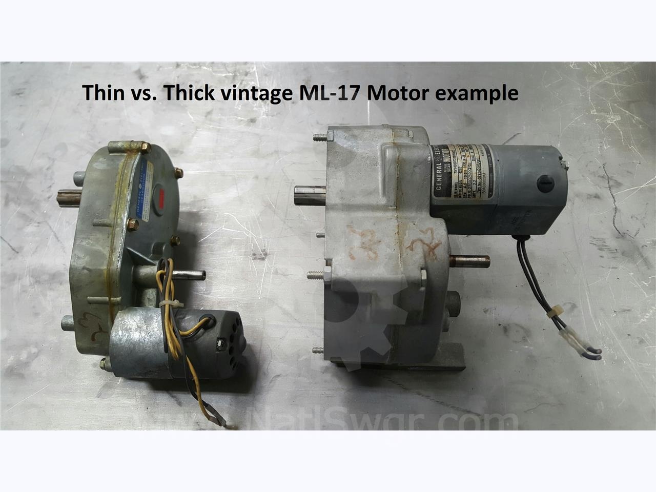GE 120VAC / 125VDC CHARGE MOTOR THIN VERSION