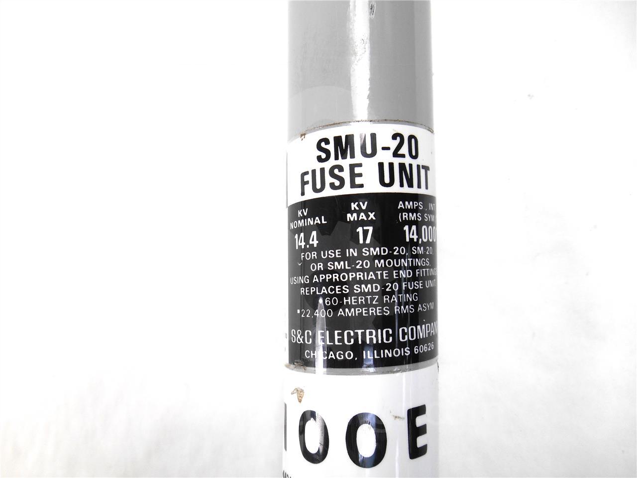 Smu 20 100e 100e S Amp C Power Fuse 14 4kv E Rated Fuse