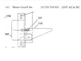SA MOTOR CUT OFF SWITCH, 125VAC/DC