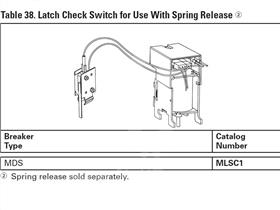 WH LATCH CHECK SWITCH FOR USE WITH SPRING RELEASE
