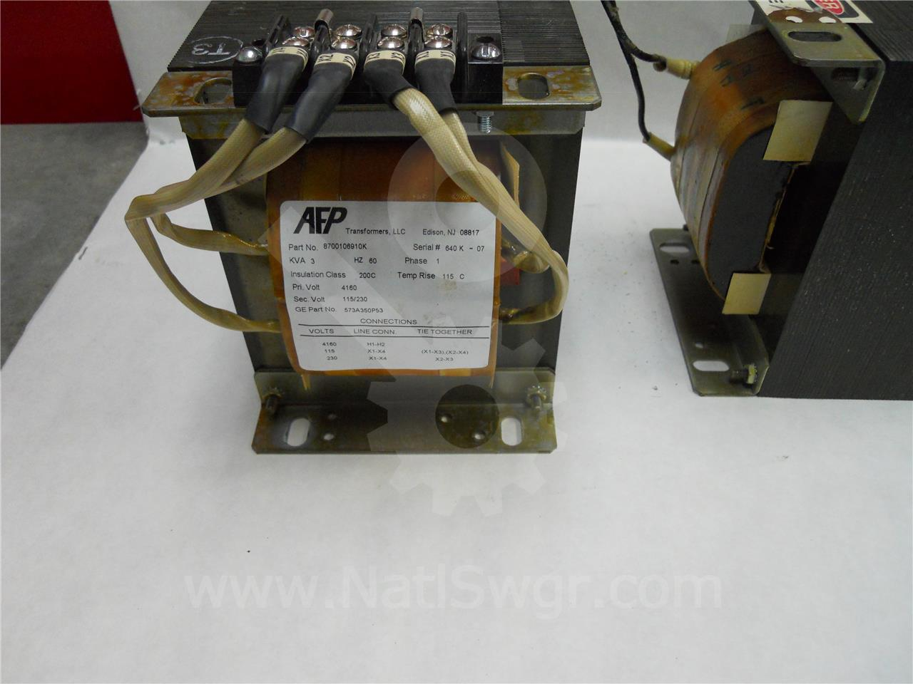 573a350p53 Ge    General Electric 18  35 1 Control Power Transformer 3kva 4160 230  115  1ph