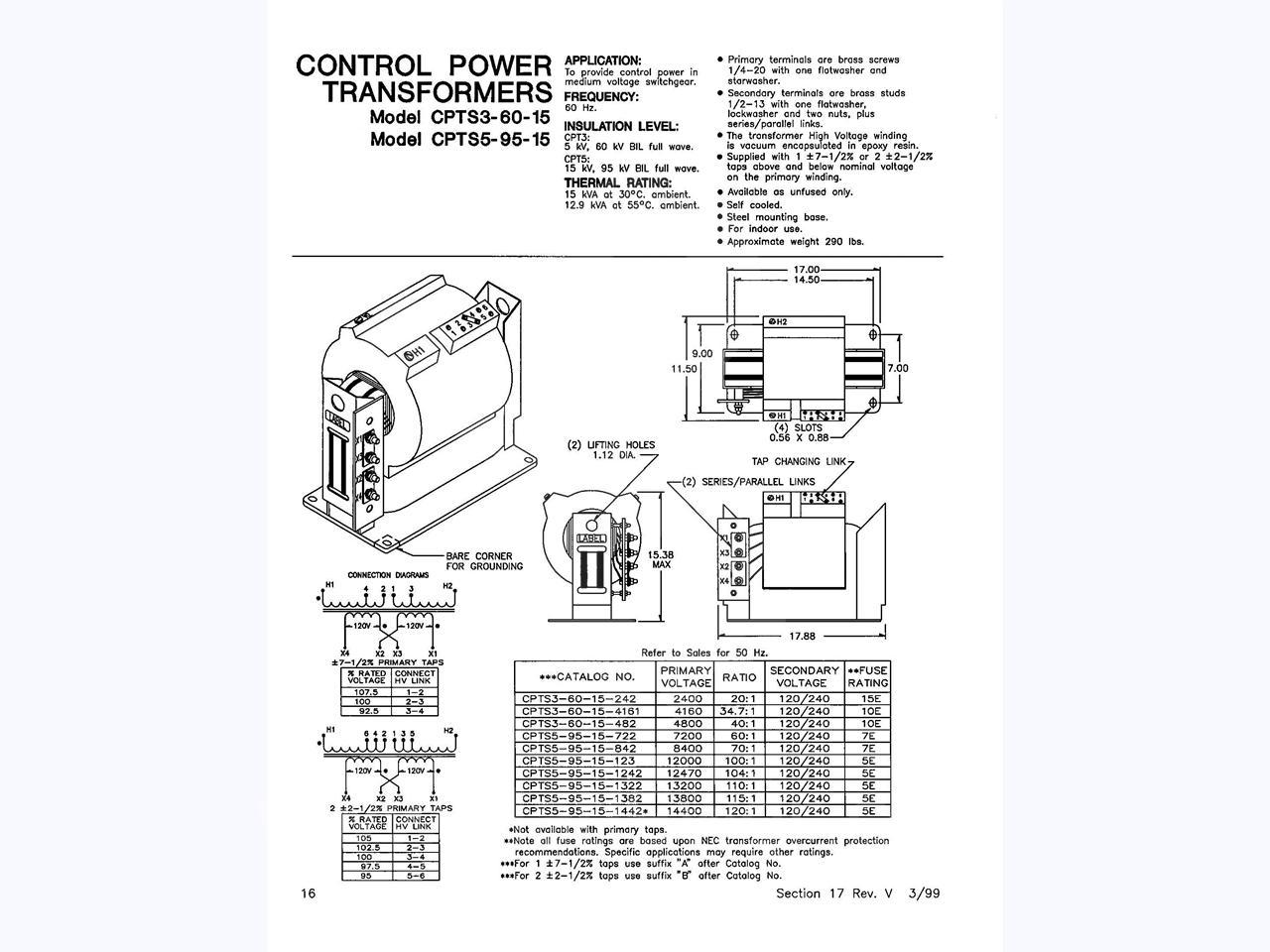 general electric ge 34 7 1 control power transformer  15kva