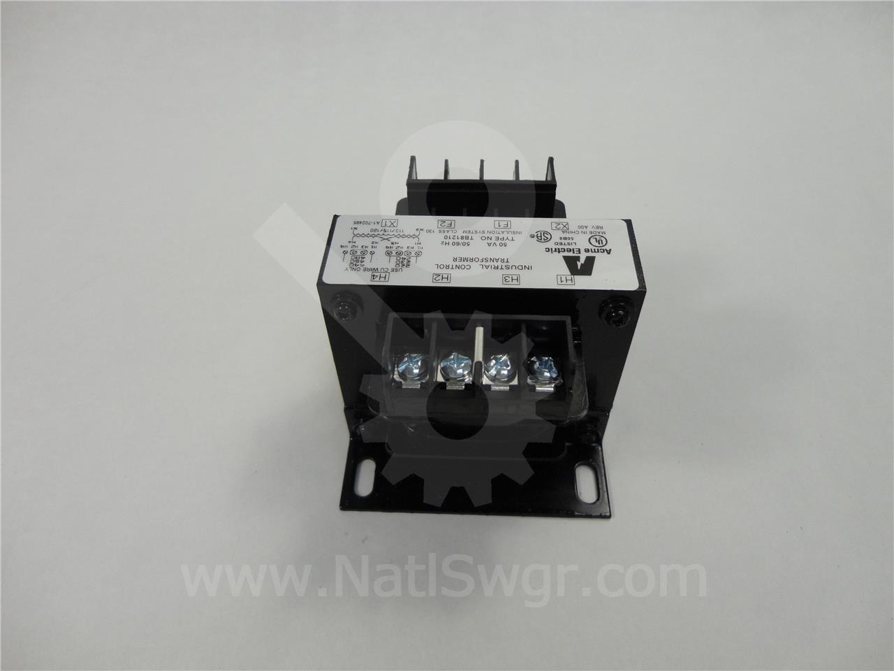 TB81210 ACME 4:1 CONTROL POWER TRANSFORMER, 50VA 480:120