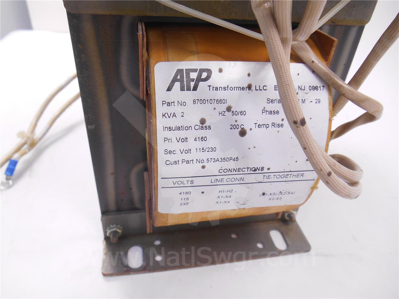 573a350p45 Ge    General Electric 18  35 1 Control Power Transformer 2kva 4160 230  115  1ph