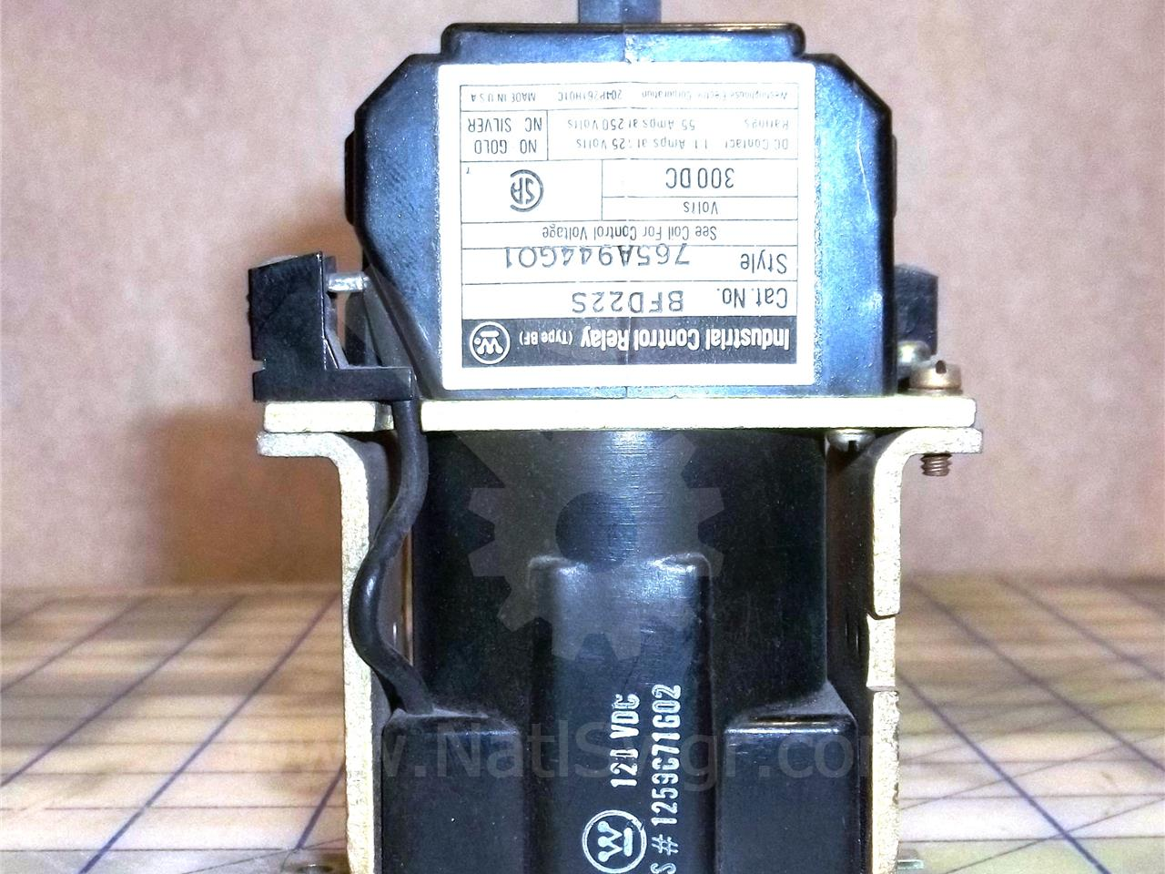 WH 125VDC BFD CONTROL RELAY