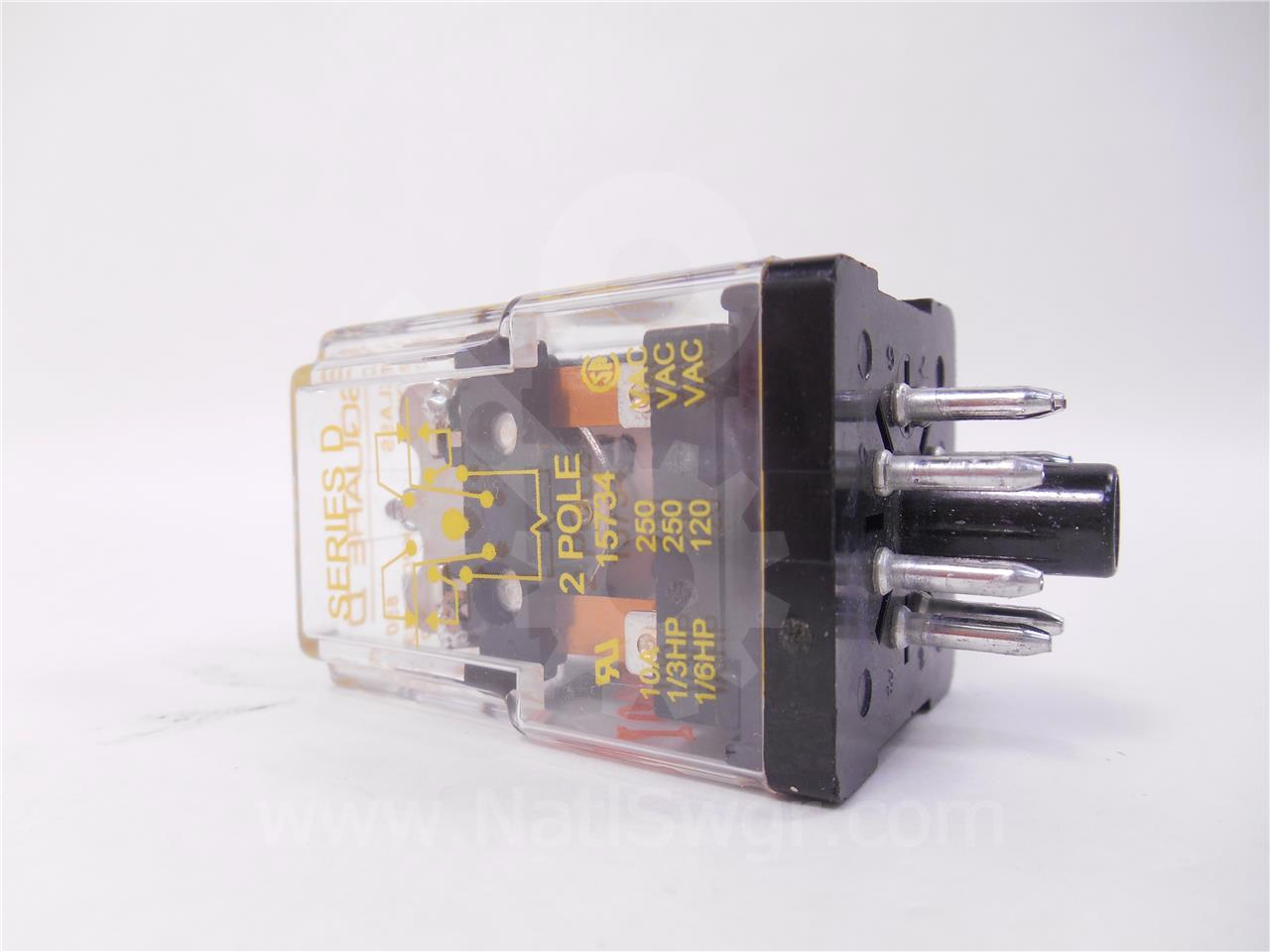 46040-477-51 Square D 125VDC CONTROL RELAY Y FOR VR VAD-5