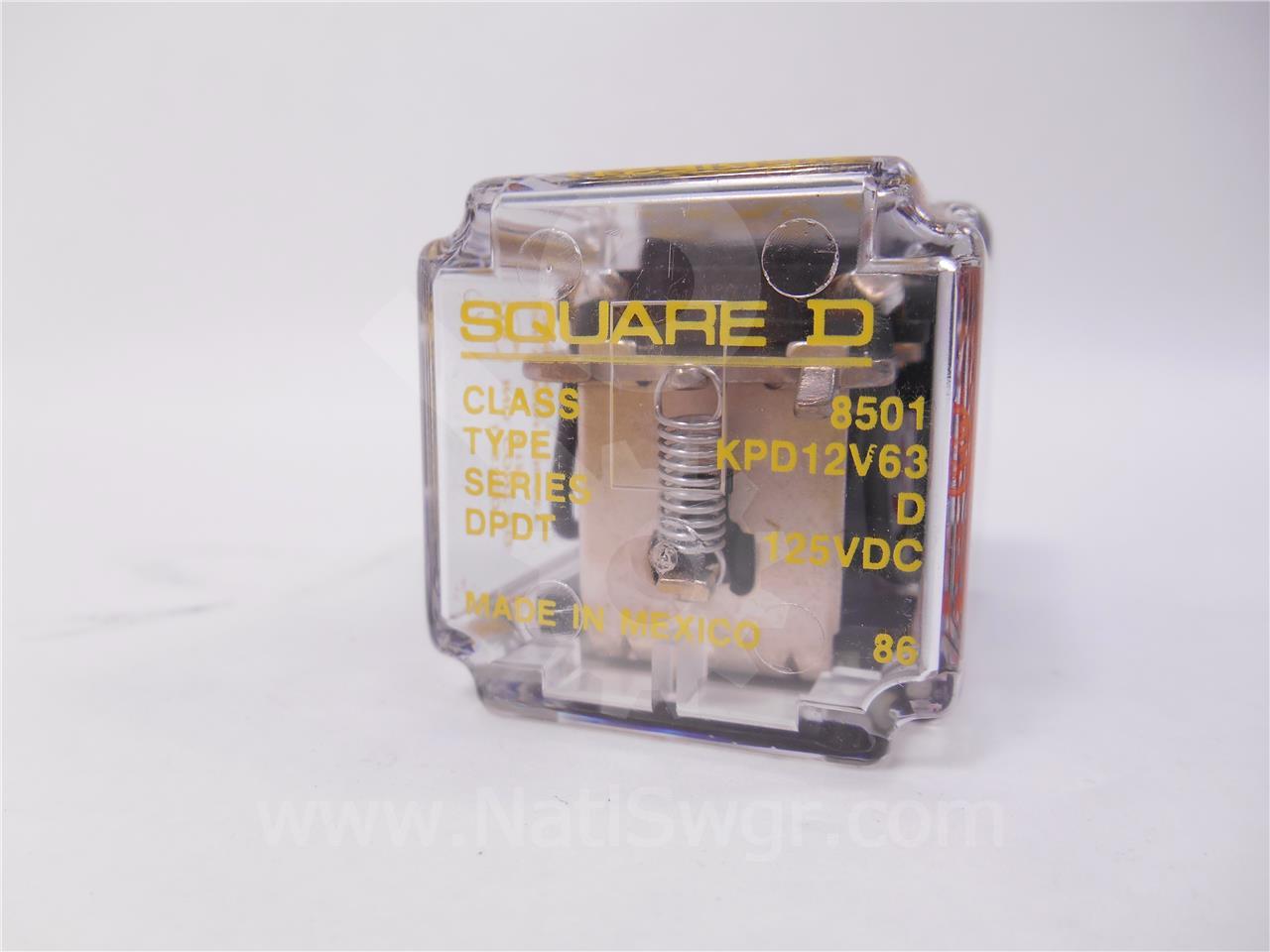 Square D SQD 125VDC CONTROL RELAY Y