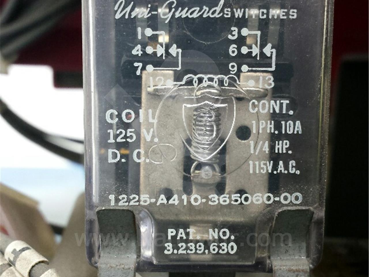 SA 125VDC CONTROL RELAY, Y
