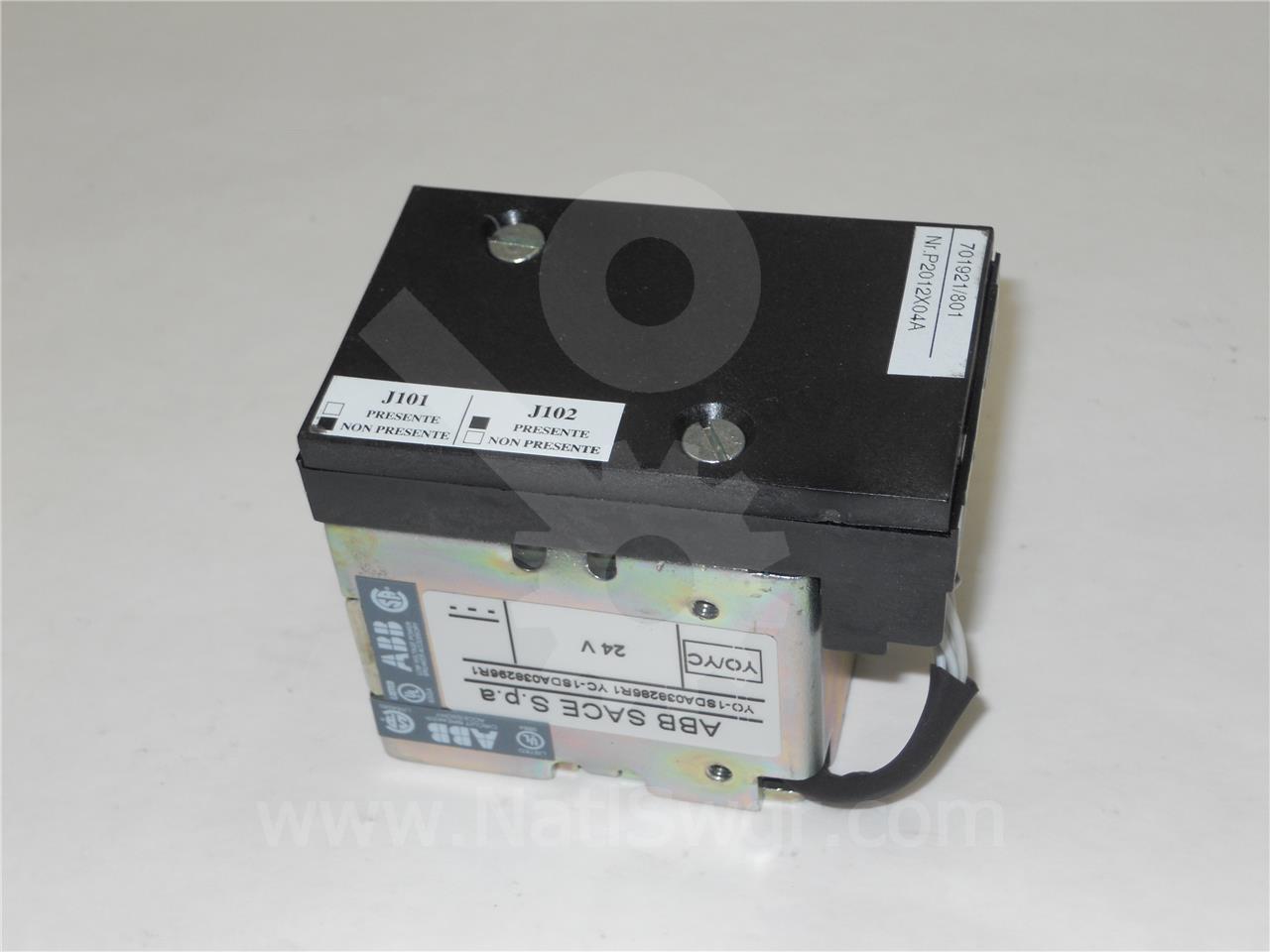 1SDA038286R1 ABB SACE 24VDC SHUNT TRIP COIL ASSEMBLY FOR EMAX E1B-A-08