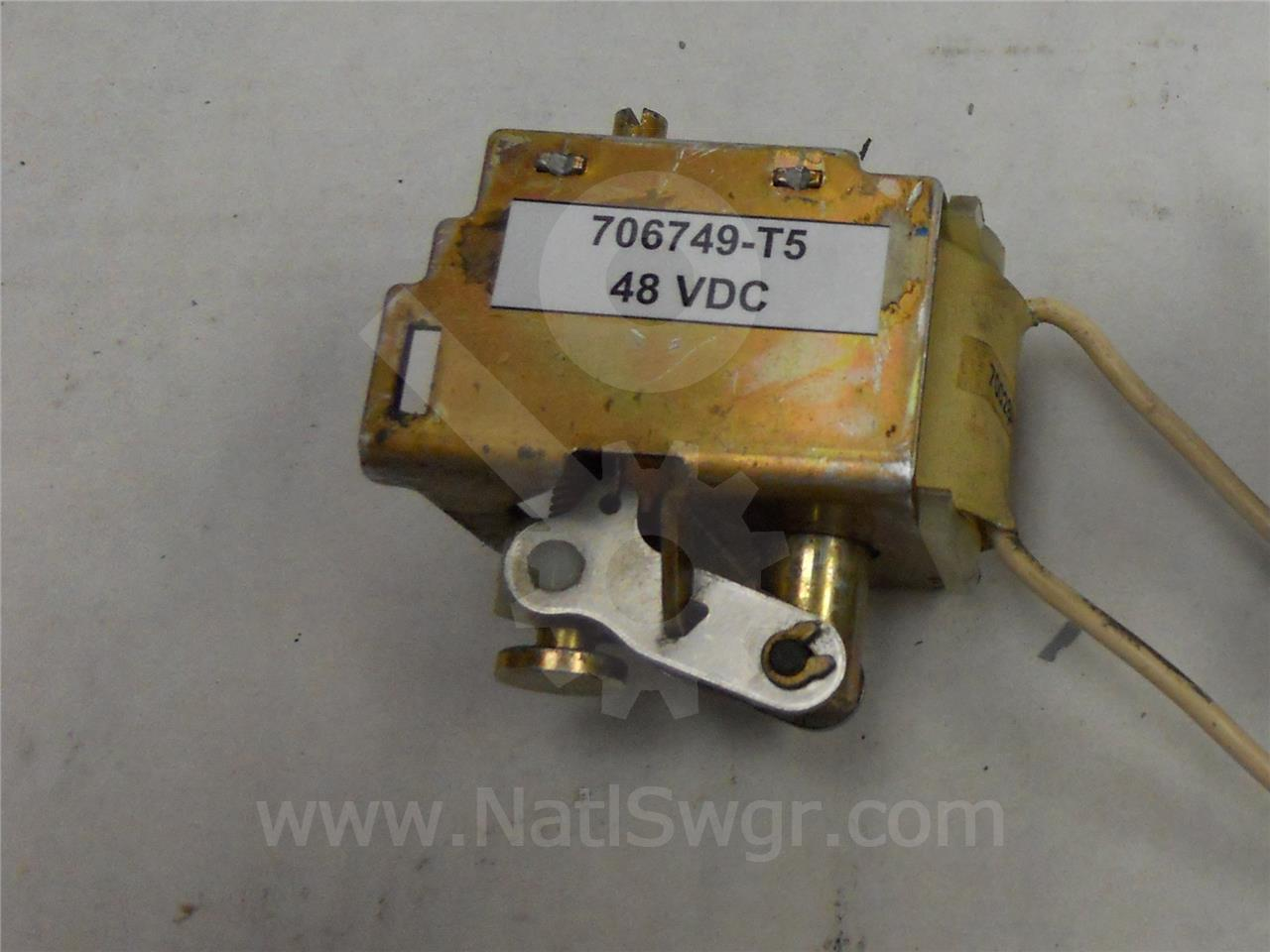 706749-T5 ITE 48VDC TRIP / CLOSE COIL ASSEMBLY FOR K-3000 / K-4000