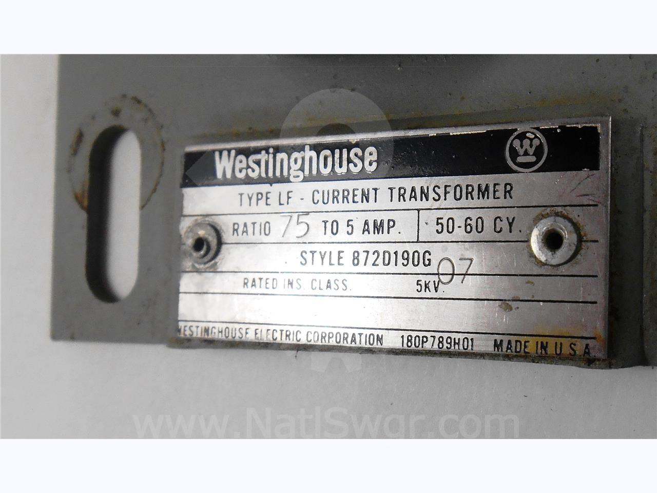 Westinghouse Cutler Hammer Wh Current Transformer 75 5