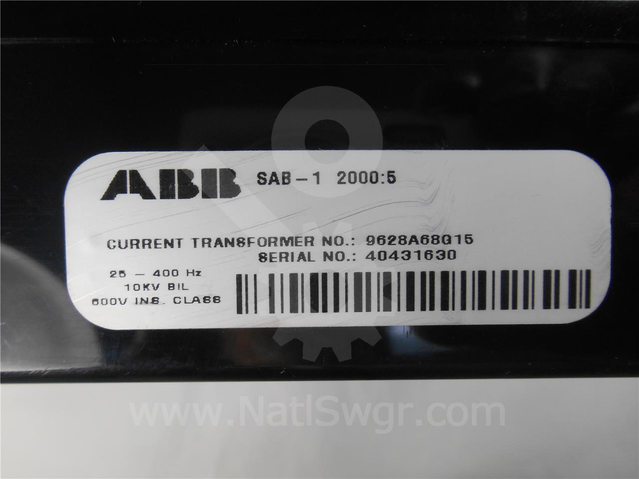 9628A68G15 ABB CURRENT TRANSFORMER 2000:5 NEW SAB-1
