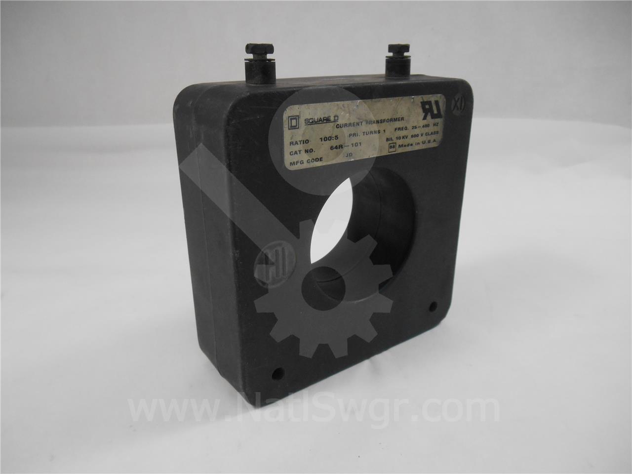 64R-101 Square D CURRENT TRANSFORMER100:5 C10