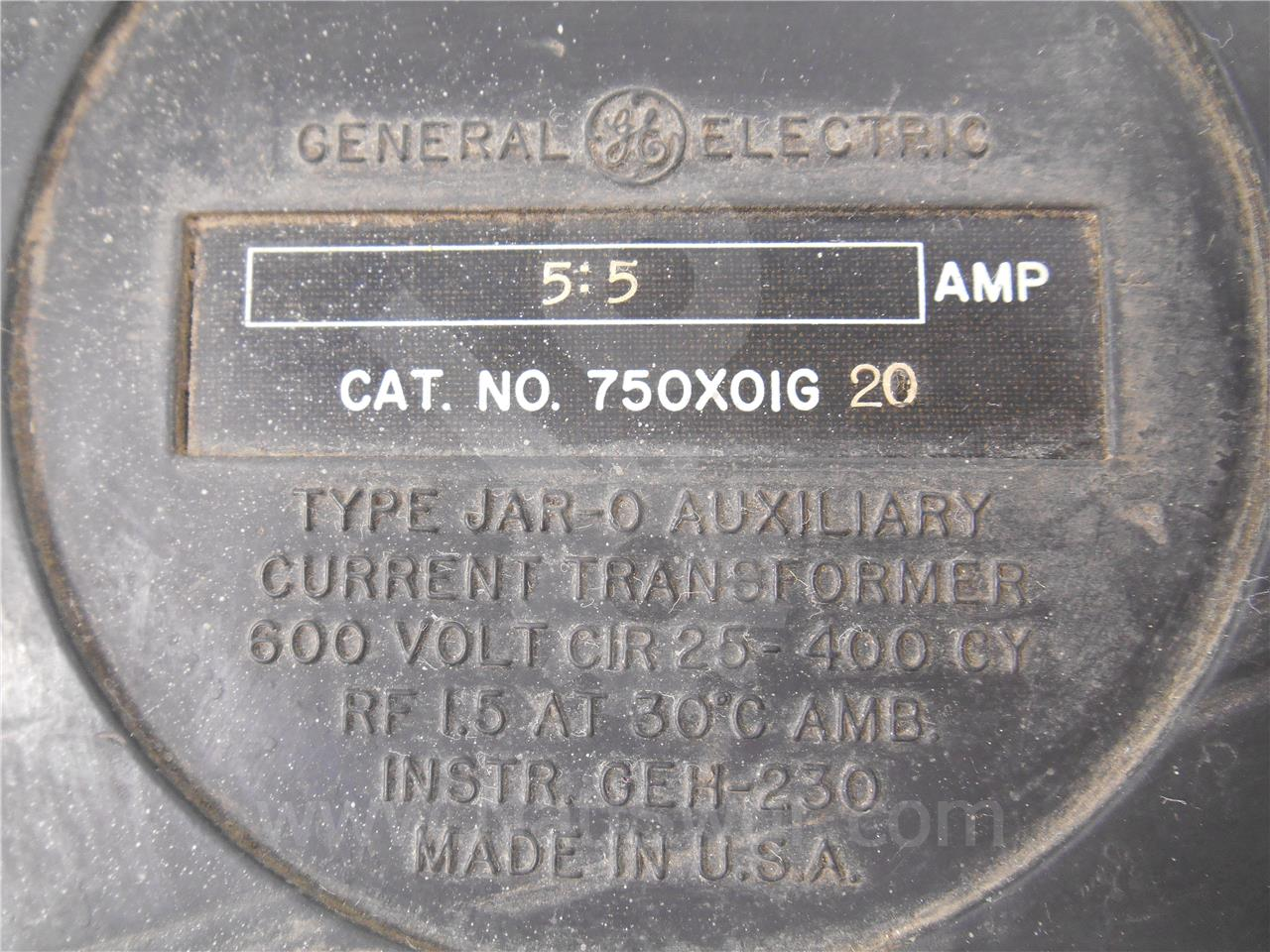 750x01g20 Ge General Electric Jar 0 Current Transformer