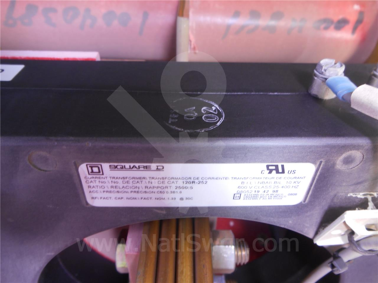120R-252 Square D CURRENT TRANSFORMER 2500:5 C100