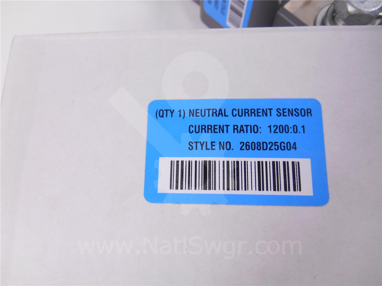 2608D25G04 Cutler-Hammer EXTERNAL NEUTRAL CURRENT SENSOR, 1200:0.1