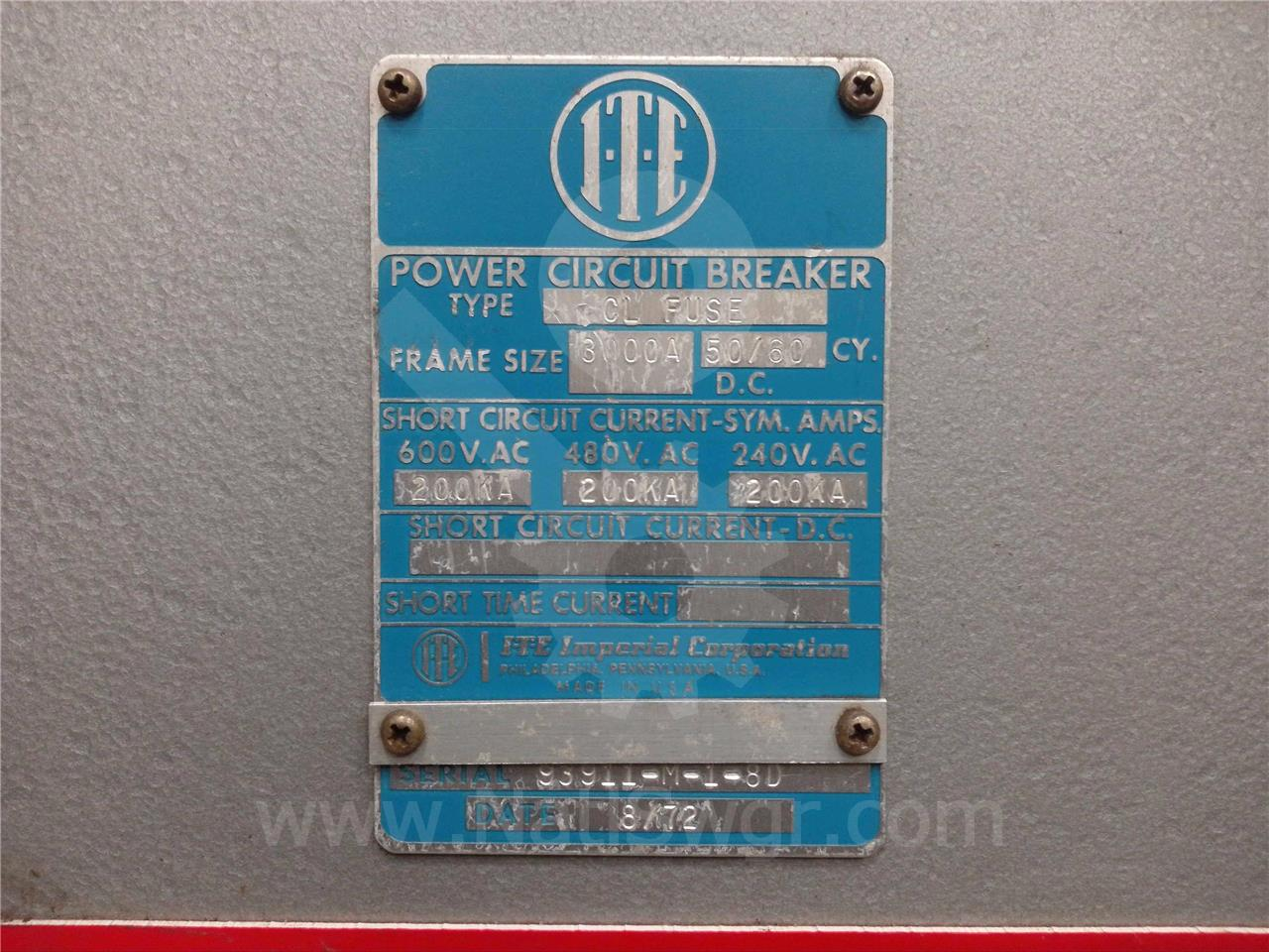 K-3000FT 3000A ITE K-3000 FUSE TRUCK