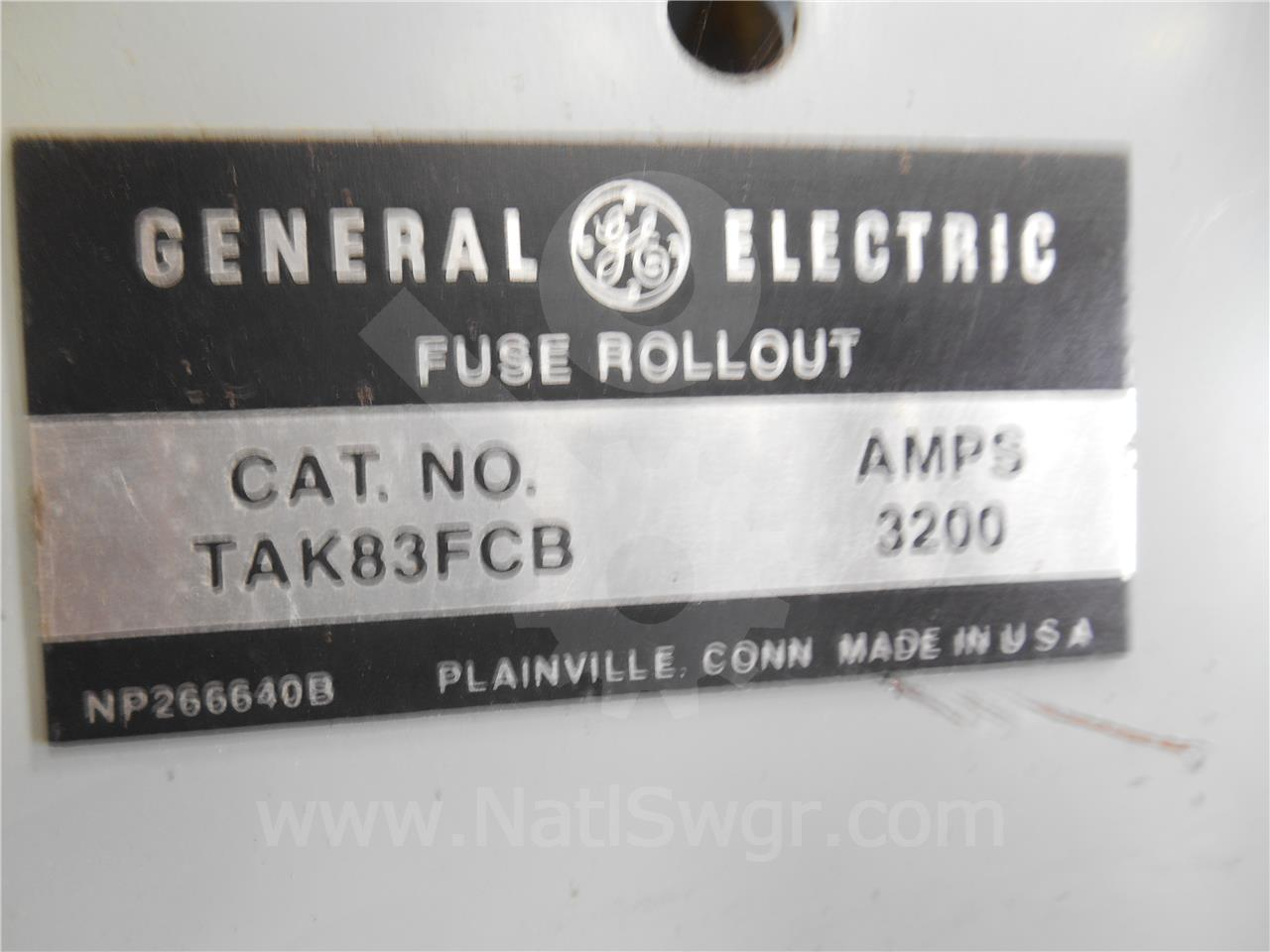 3200A GE / General Electric AKR-75 ROLL OUT FUSE ELEMENT