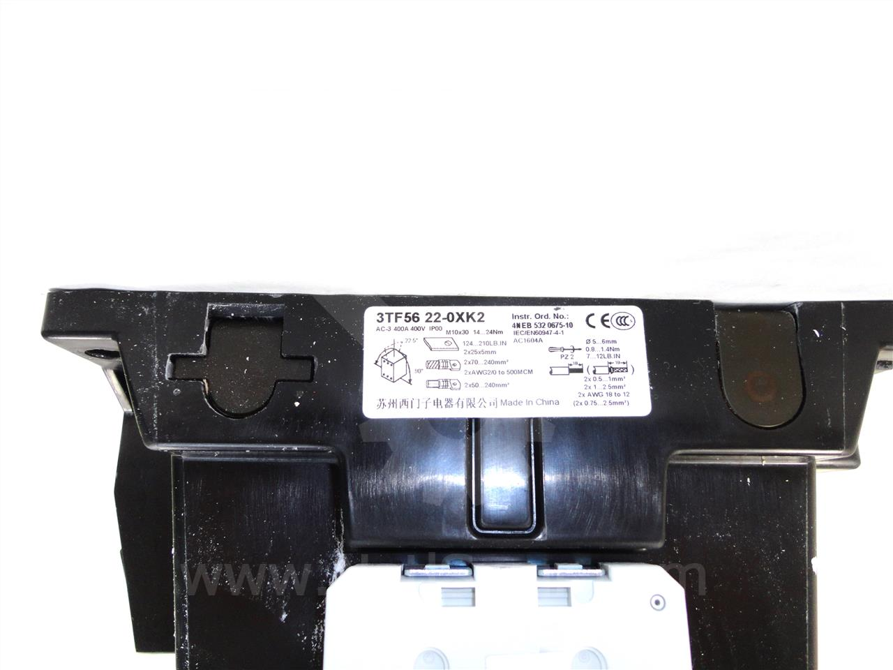 Siemens / Allis Chalmers 400A SA AIR MAGNETIC CONTACTOR SIZE 3