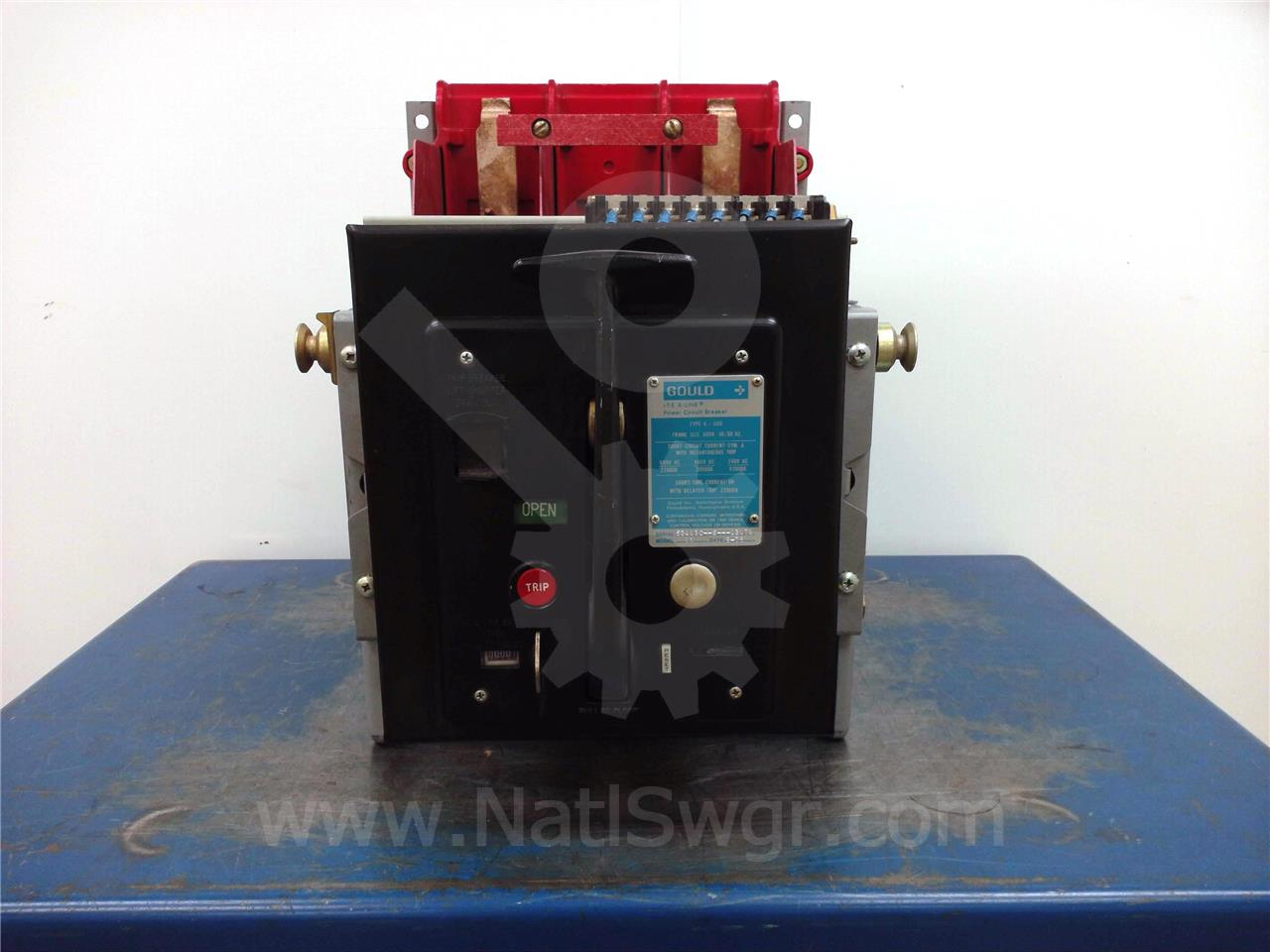 K-600 600A ITE RED MO/DO DC TWO POLE OD-4 LS 150VDC, BELL ALARM