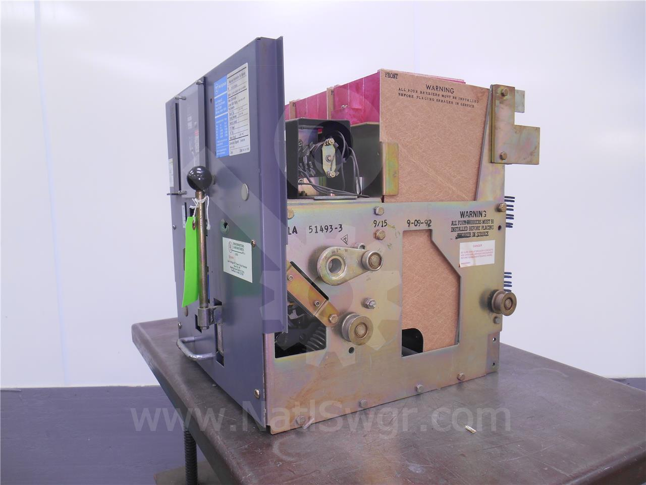 DS-206H 800A Westinghouse EO/DO 120VAC CONTROLS, RMS 500 LSI, 400A CT, 400A RP