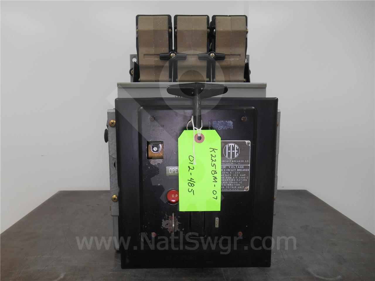 K 225 225a Ite Black Mo Do Sku012485 Ebay Used Circuit Breakers E43b060 60 Amp 3 Pole Breaker Image Is Loading