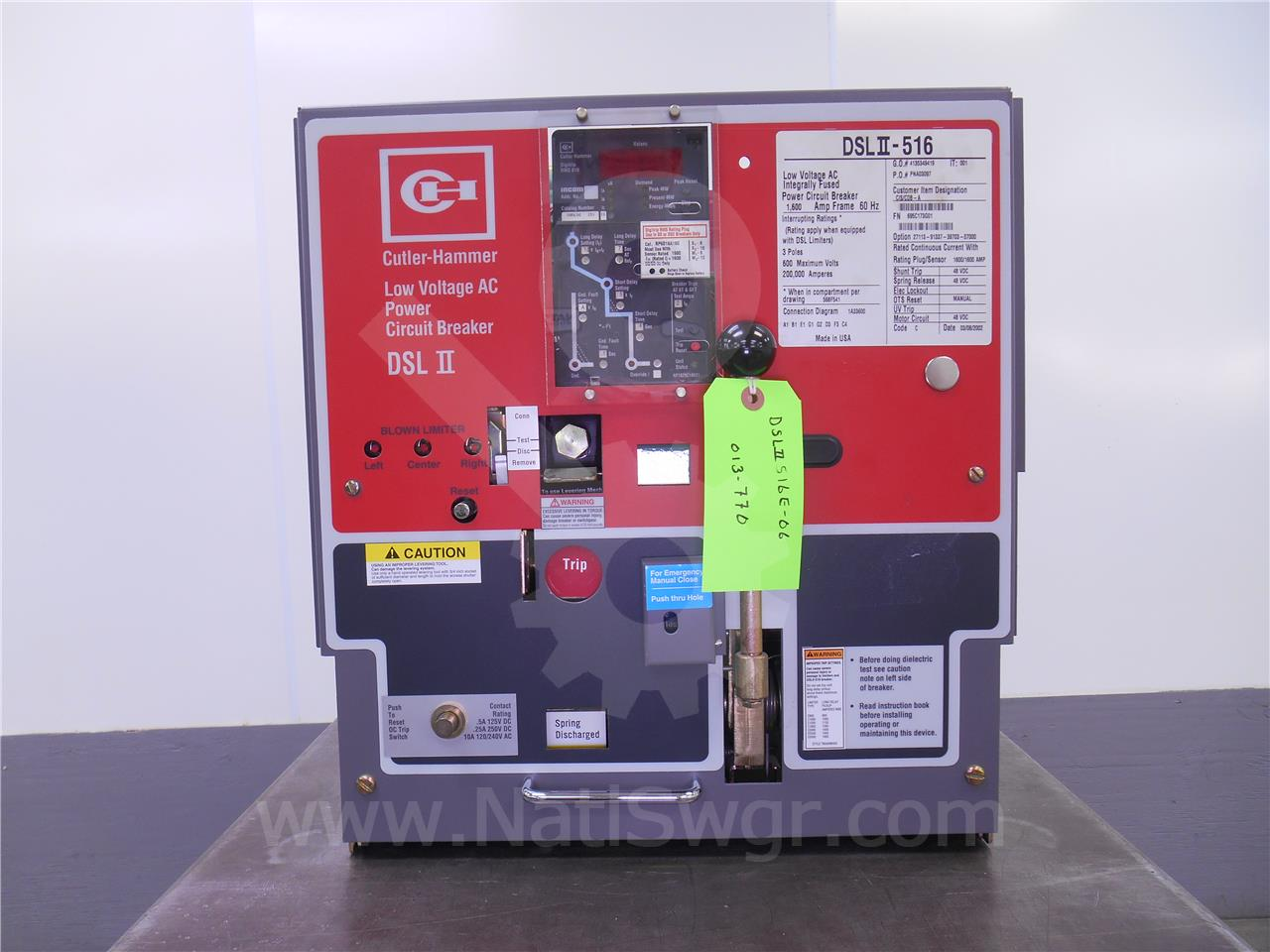 DSLII-516 1600A Cutler-Hammer EO/DO