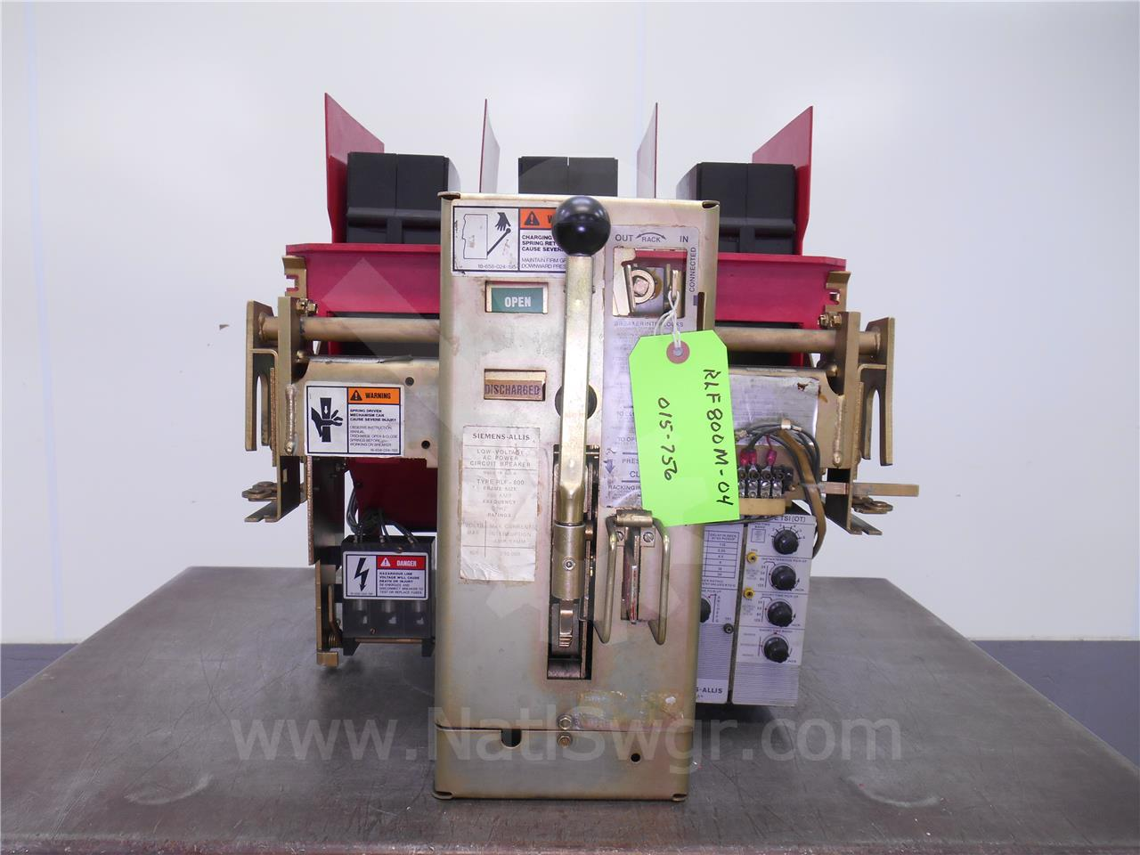 RLF-800 800A Siemens / Allis Chalmers MO/DO STATIC TRIP II TSI (OT), 800A CT
