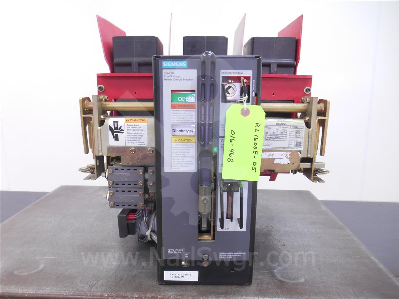 RL-1600 1600A Siemens / Allis Chalmers EO/DO  RLAS1EXXXBAXXE 120VAC CONTROL, PTO