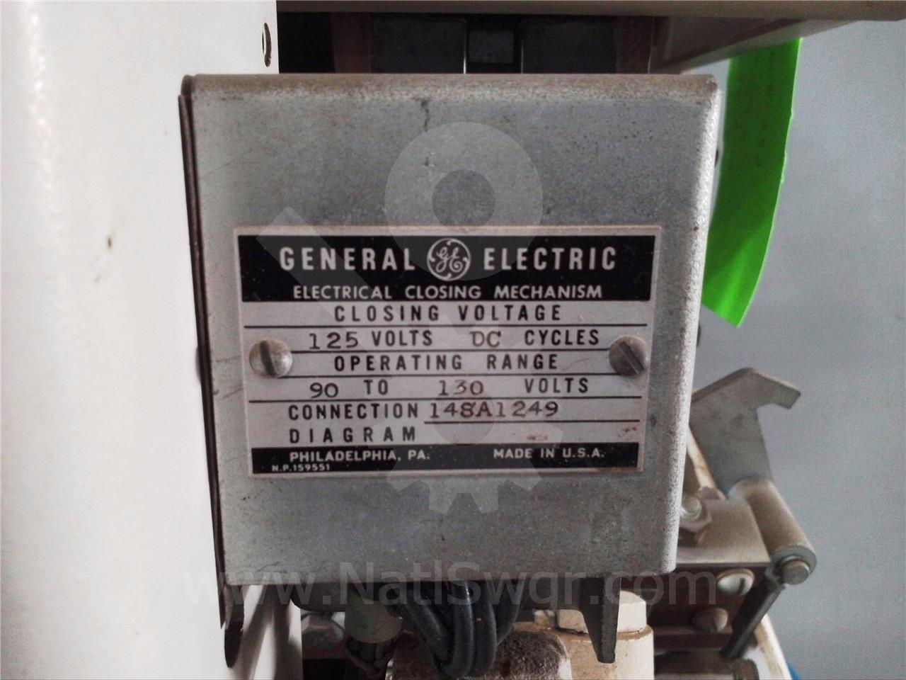AK-2-50 1600A GE / General Electric EO/DO 125VDC CONTROL
