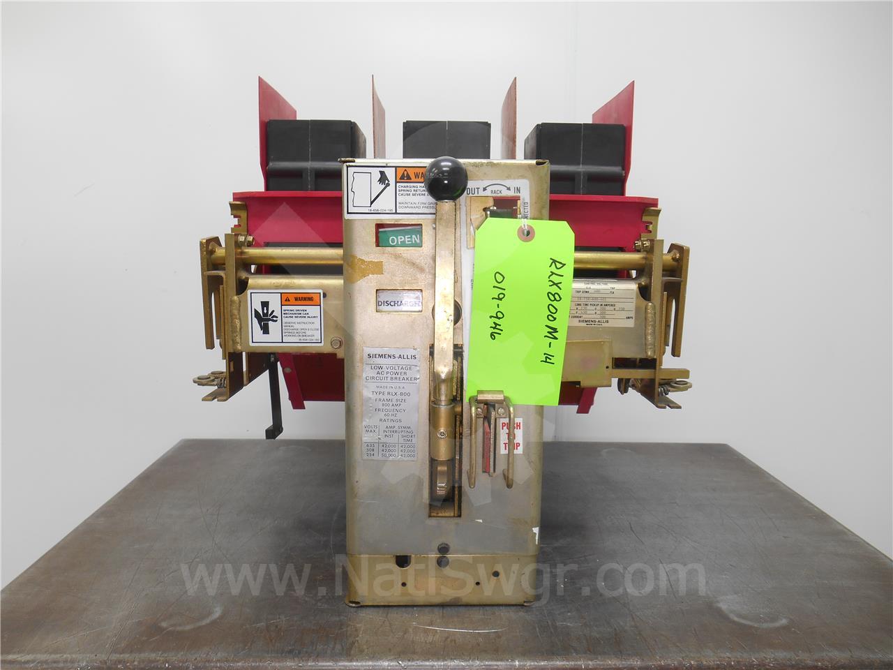 Siemens / Allis Chalmers 800A SA RLX-800 MO/DO
