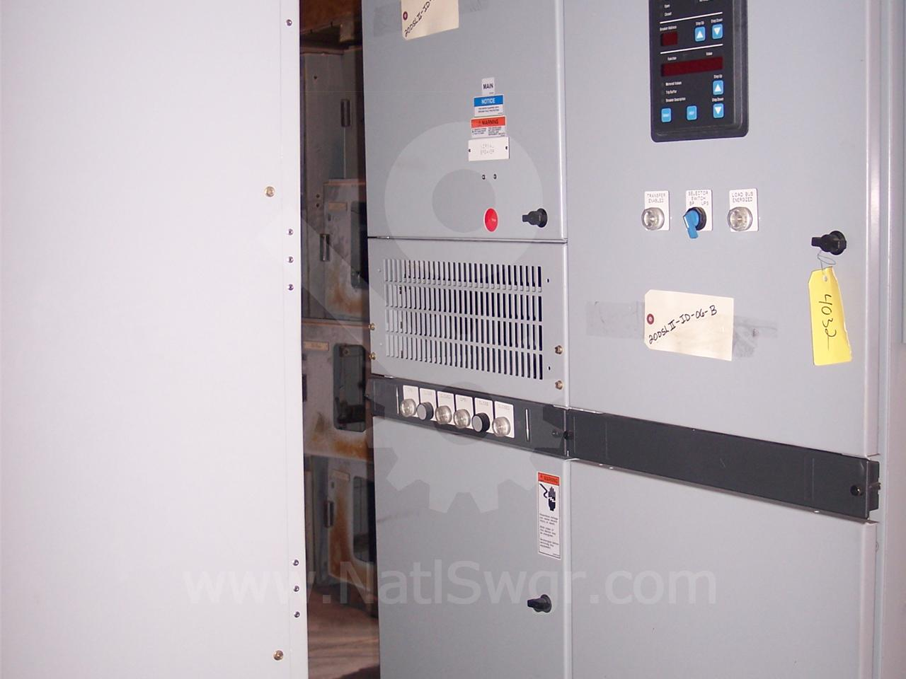 2000A Cutler-Hammer DSII FUSED INDOOR SWITCHGEAR 2-2000A FEEDER