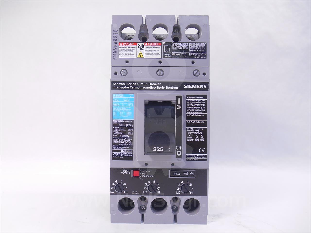 Siemens / Allis Chalmers SA FXD MCCB