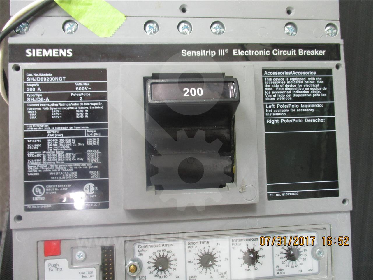Siemens / Allis Chalmers SA SENTRON SHJD MCCB