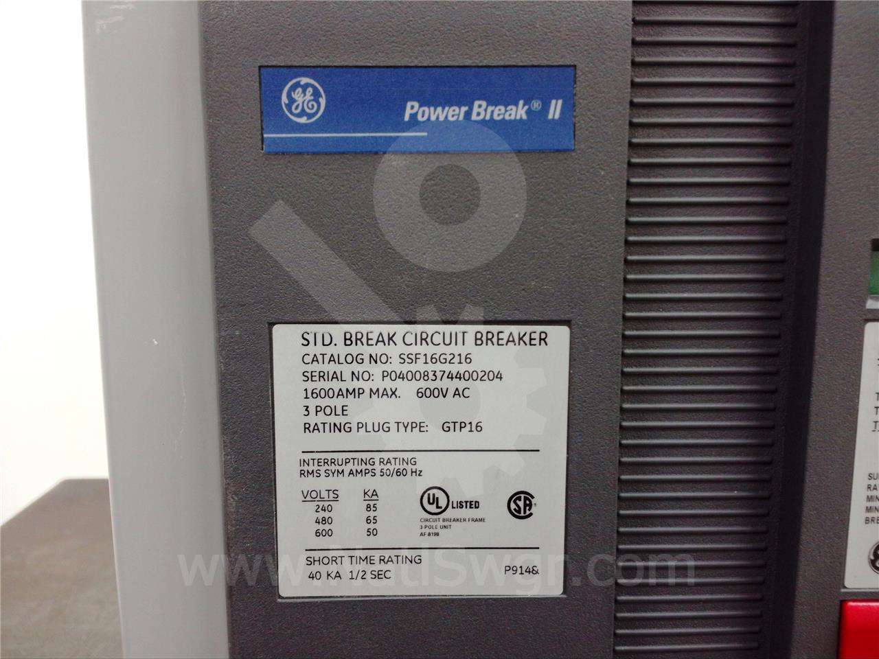 Ssf16 Ssf16g216 1600a Ge General Electric Ssf Power