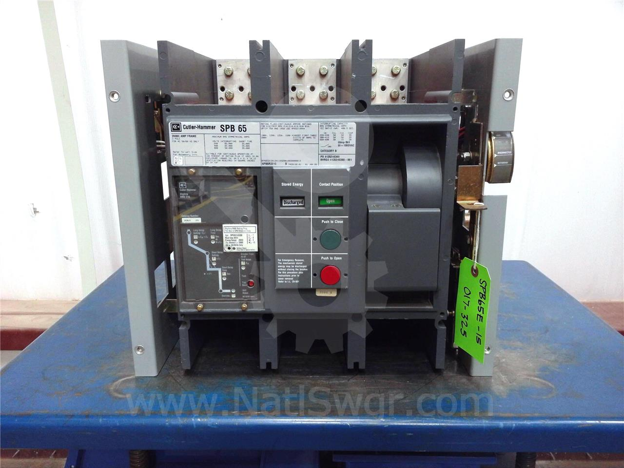 Westinghouse / Cutler Hammer 2000A WH SPB-65 EO/DO COMPACT FRAME (SPB65)